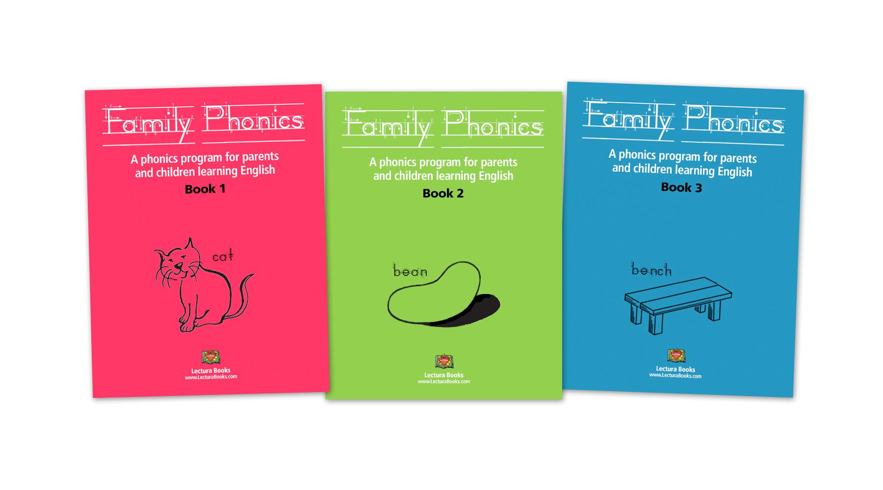 Family Phonics books for bilingual (English Spanish) parent involvement