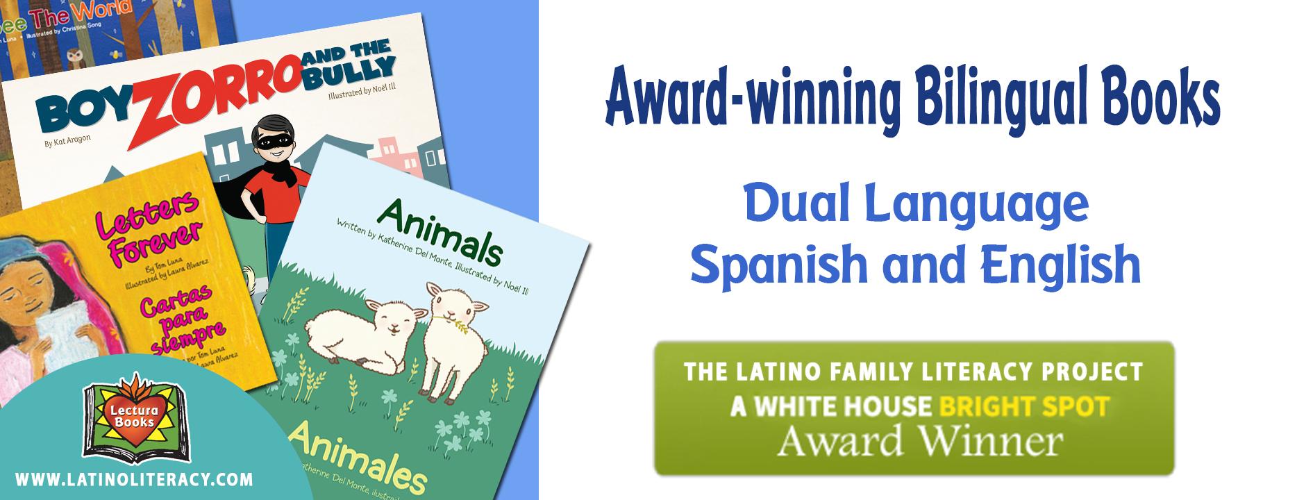 Award-winning dual language books Spanish and English